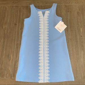 Pappagallo Girls' Sleeveless Sky Blue Dress